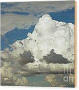 Daunting Sky Wood Print