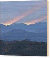 Dawn Of Gatlinburg Wood Print