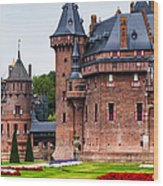 De Haar Castle. Utrecht. Netherlands Wood Print by Jenny Rainbow