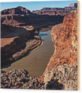 Dead Horse Point Colorado River Bend Wood Print