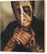 Dead Man Smoking Wood Print