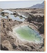 Dead Sea Sinkholes  Wood Print by Eyal Bartov