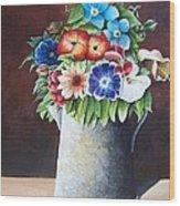 Deanne's Flower Pot Wood Print
