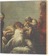 Death Of Cleopatra Wood Print