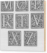 Decorative Initials, C1600 Wood Print