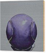 Deep Violet Wood Print