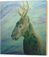 Deer At Home Wood Print