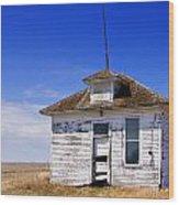 Defunct One Room Country School Building Wood Print