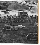 Demolition Derby Rain Storm Clouds Tucson Arizona 1968 Wood Print