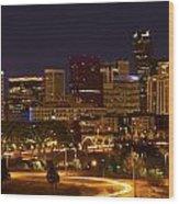 Denver Skyline Wood Print