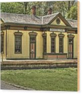 Chester Park Train Depot Wood Print