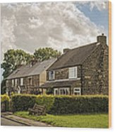 Derbyshire Cottages Wood Print