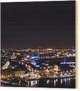 Derry At Night Wood Print
