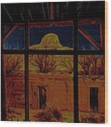 Desert Trail Homage 1936 Cabezon Peak Ghost Town Cabezon New Mexico 1971 Wood Print