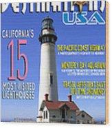 Destinations Usa Faux Magazine Cover Wood Print