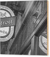 Detroit Beer Company  Wood Print