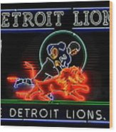 Detroit Lions Football Wood Print