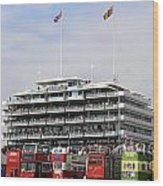Diamond Jubilee Weekend At The Derby Horse Race On Epsom Downs  Wood Print