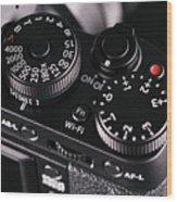 Digital Slr Camera Wood Print