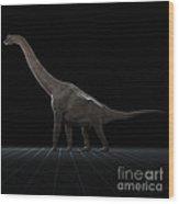 Dinosaur Brachiosaurus Wood Print