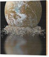 Dissolving Earth Wood Print