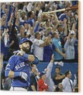 Division Series - Texas Rangers V Wood Print