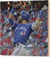 Division Series - Toronto Blue Jays V Wood Print