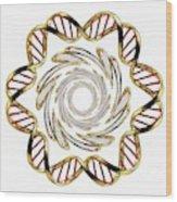 Dna (deoxyribonucleic Acid) Wood Print