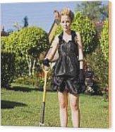 Do It Yourself Gardening Lady Wood Print