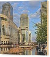 Docklands London Wood Print