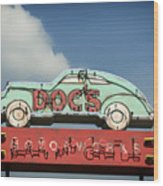 Doc's Bar And Grill Wood Print