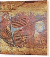 Dodge In Rust Wood Print