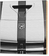 Dodge Viper Hood Emblem Wood Print