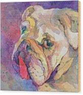 Dog-tired Wood Print