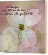 Dogwood Blossoms.  Wood Print