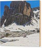 Dolomites - Pisciadu Peak Wood Print