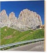 Dolomiti - Sella Pass Wood Print