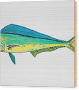 Dolphin Fish Wood Print