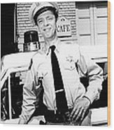 Don Knotts In The Andy Griffith Show  Wood Print by Silver Screen