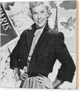 Doris Day, 1953 Wood Print