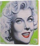 Doris Day Wood Print by Alicia Hayes