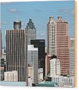 Downtown Atlanta Wood Print