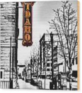 Downtown Boise Wood Print