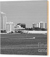 Downtown Clearwater Skyline Wood Print