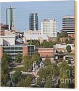 Downtown Knoxville Tennessee Skyline Wood Print