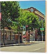 Downtown Pullman Washington Wood Print