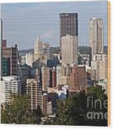 Downtown Skyline Of Pittsburgh Pennsylvania Wood Print
