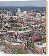 Downtown Skyline Of Wilmington Wood Print