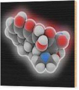 Doxycycline Drug Molecule Wood Print