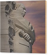 Dr. Martin Luther King Jr Memorial Wood Print